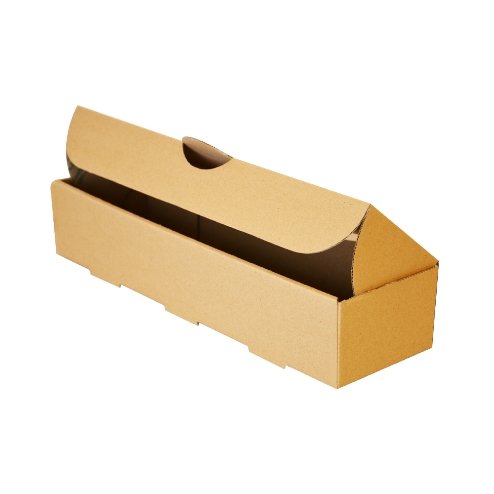 جعبه هات داگ بدون چاپ کرافت 100 عددی سه رخ در باز
