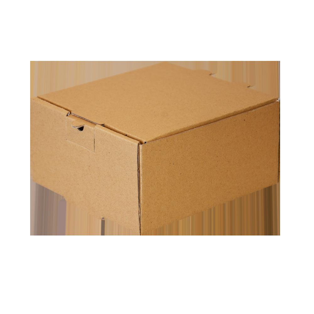 جعبه برگر بدون چاپ کرافت 100 عددی سه رخ چپ