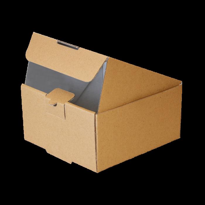 جعبه برگر بدون چاپ کرافت 100 عددی در باز