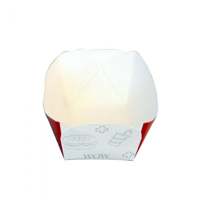 پلیت قایقی دورنگ قرمز سفید در بسته بندی 600 عددی عرضی